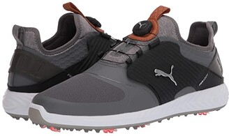 Puma Golf Ignite PwrAdapt Caged Disc (Peacoat Silver/Quiet Shade) Men's Shoes