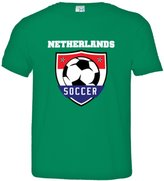 HQ Tees Little Boy/Girl Netherlands World Soccer Badge Top Quality Toddler Tee