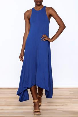 1 Funky Blue Midi Dress
