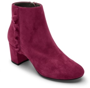 Rockport Women's Total Motion Oaklee Ruffle Ankle Boots Women's Shoes