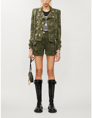 Balmain Camouflage-print stretch-cotton twill jacket