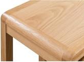 Julian Bowen Newman Curve Ready Assembled Solid Oak and Oak Veneer Nest of 2 Tables