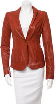 Rachel Zoe Shawl Collar Leather Jacket