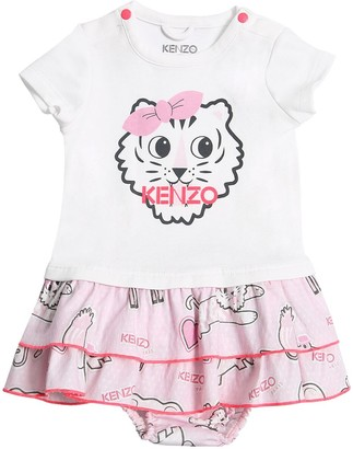 Kenzo Printed Cotton Dress & Diaper Cover