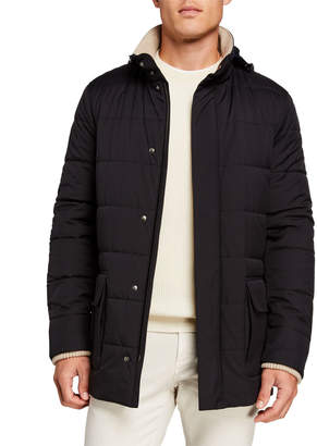 Loro Piana Men's Winter Voyager Quilted Winter Coat