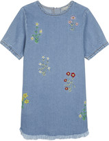 Stella McCartney Bess cotton-denim floral dress 4-14 years