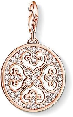 Thomas Sabo Women Charm Pendant Ornament 925 Sterling Silver; 18k Rose Gold Plating 0994-416-14
