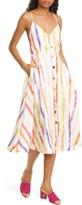 Nicholas Shaanti Stripe Linen Midi Dress