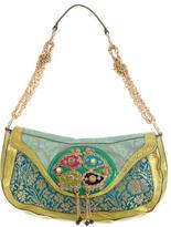 Etro Leather-Trimmed Brocade Handle Bag