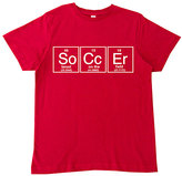 Micro Me Red 'Soccer' Periodic Table Tee - Toddler & Boys