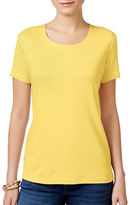 Karen Scott Petite Loose Fit Cotton Tee