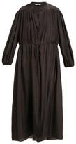 Three Graces London Julienne Silk Shirtdress - Womens - Black