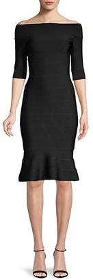 Herve Leger Boatneck Knit Dress