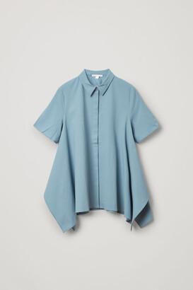 Cos Organic Cotton Cut Drape Shirt
