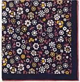 Bigi Men's Floral-Print Linen Pocket Square