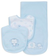 Little Me Infant Boys' Safari Bib & Burp Cloth Knit Set