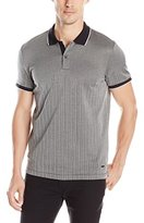 Calvin Klein Men's Premium Engineered Herringbone Polo Shirt