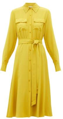 Diane von Furstenberg Antonette Silk-crepe De Chine Shirtdress - Womens - Yellow