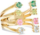 Delfina Delettrez 9-karat Gold, Topaz And Peridot Ring - one size