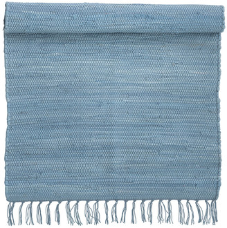 Pompon Bazar - Blue Sky Mottled Bathroom Carpet 90 x 60 cm - blue   cotton - Blue/Blue