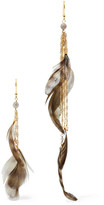Rosantica Selva Gold-tone, Bead And Feather Earrings