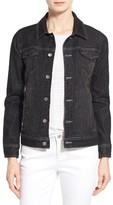 Eileen Fisher Petite Women's Denim Classic Collar Jacket