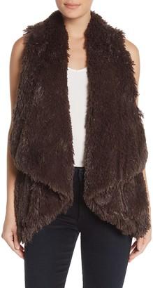 Wit & Wisdom Draped Faux Fur Vest