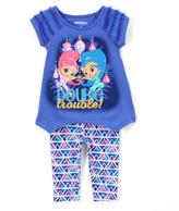 Children's Apparel Network Purple Shimmer & Shine Tunic & Leggings - Toddler