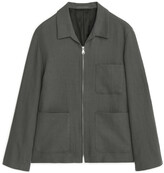 Arket Cotton Linen Blouson Jacket