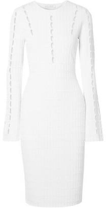 Narciso Rodriguez Cutout Ribbed-knit Dress