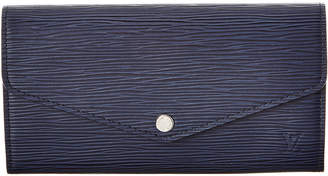 Louis Vuitton Navy Epi Leather Sarah Wallet Nm