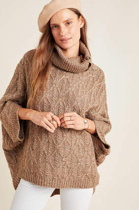 Anthropologie Corinne Cable Knit Poncho