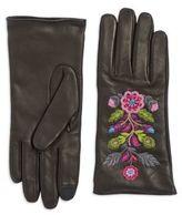 Carolina Amato Embroidered Leather Gloves
