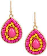 INC International Concepts M. Haskell for Gold-Tone Colored Stone & Bead Drop Earrings, Created for Macy's