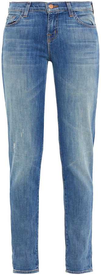 Thumbnail for your product : J Brand Faded Mid-rise Slim-leg Jeans
