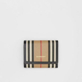 Burberry Small Icon Stripe E-canvas Folding Wallet