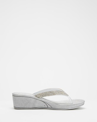 Holster Women's Silver Sandals - Twilight Wedge - Size One Size, 11 at The Iconic