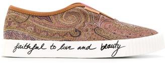 Etro Paisley Slip-On Sneakers