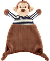Jellycat Baby Stripey Monkey Soother Soft Toy, One Size, Brown