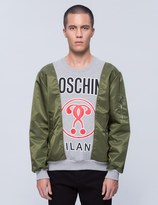 Moschino Multi Fabric Patch Sweatshirt