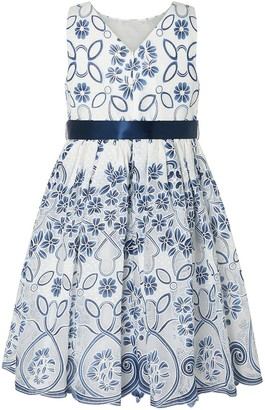 Monsoon Girls Maggie Lace Dress - Navy