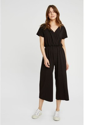 People Tree Organic Cotton Fair Trade Evelyn Jumpsuit In Black - 84 / 8