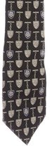Chanel Badge Print Silk Tie