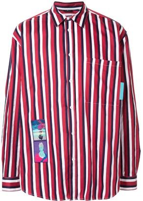 Marcelo Burlon County of Milan Dame Label striped shirt