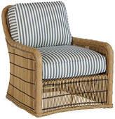 Lane Venture Rafter Lounge Chair - Blue/White Sunbrella