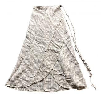 Miguelina White Linen Skirts