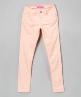 YMI Jeanswear Peach Skinny Jeans - Girls