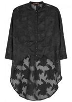 High Bibelot Black Fil Coupé Shirt