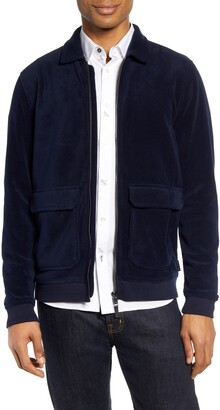Ted Baker Turbbo Slim Fit Velvet Bomber Jacket