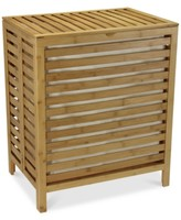 Household Essentials Slotted Bamboo Hamper